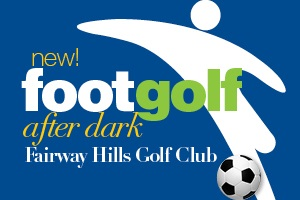 footgolf at night banner
