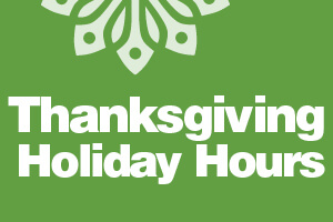 Thanksgiving Holiday Hours Image
