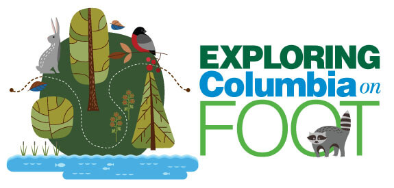 exploring Columbia on foot banner
