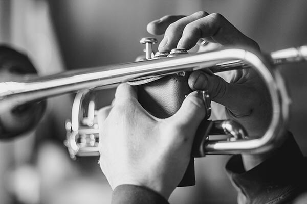trumpet being played