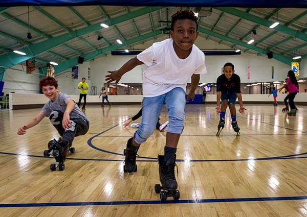Kid Fitness Image with Kid Roller Skating