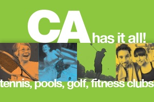 banner image with tennis, pools, golf and fitness clubs.