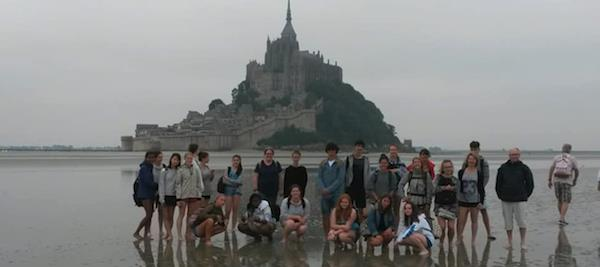 kids who attended exchange trip in france